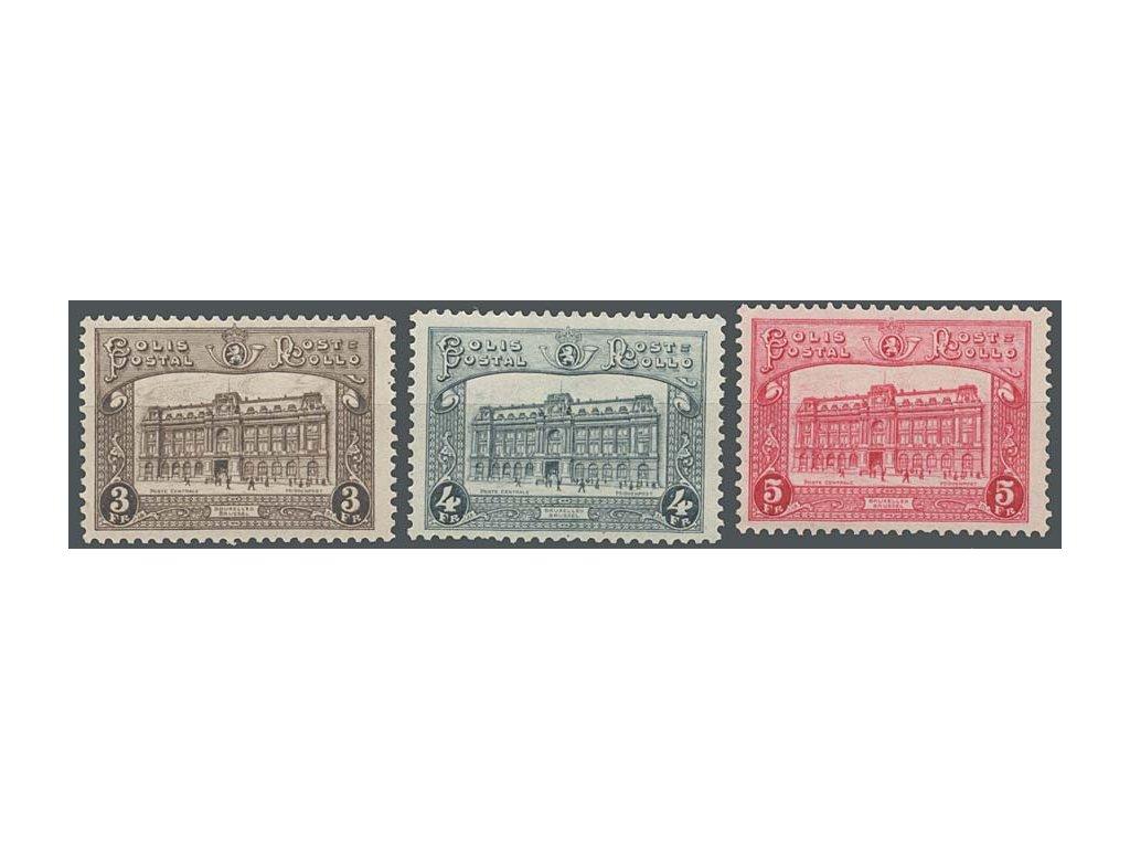 1929, 3-5Fr Postpaketmarken, MiNr.3-5, * po nálepce