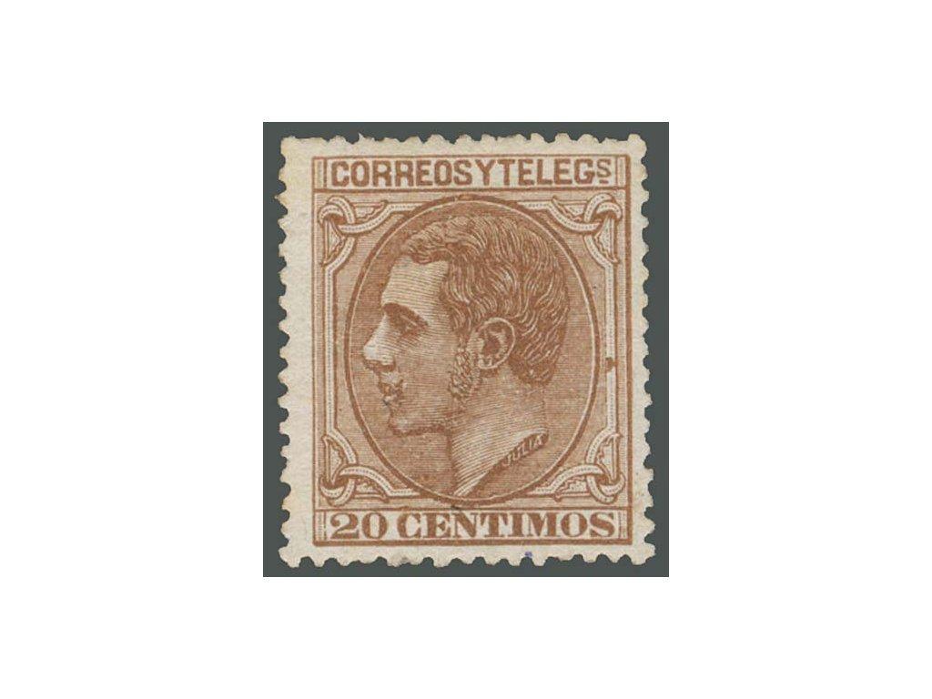 1879, 20C Alfons, MiNr.179, * po nálepce, dv