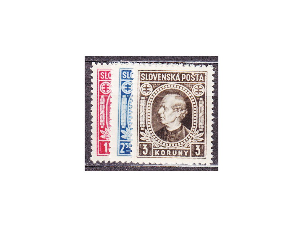 1940, 1-3Ks Hlinka, série s průsvitkou, Nr.30-2Y, **, ilustrační foto