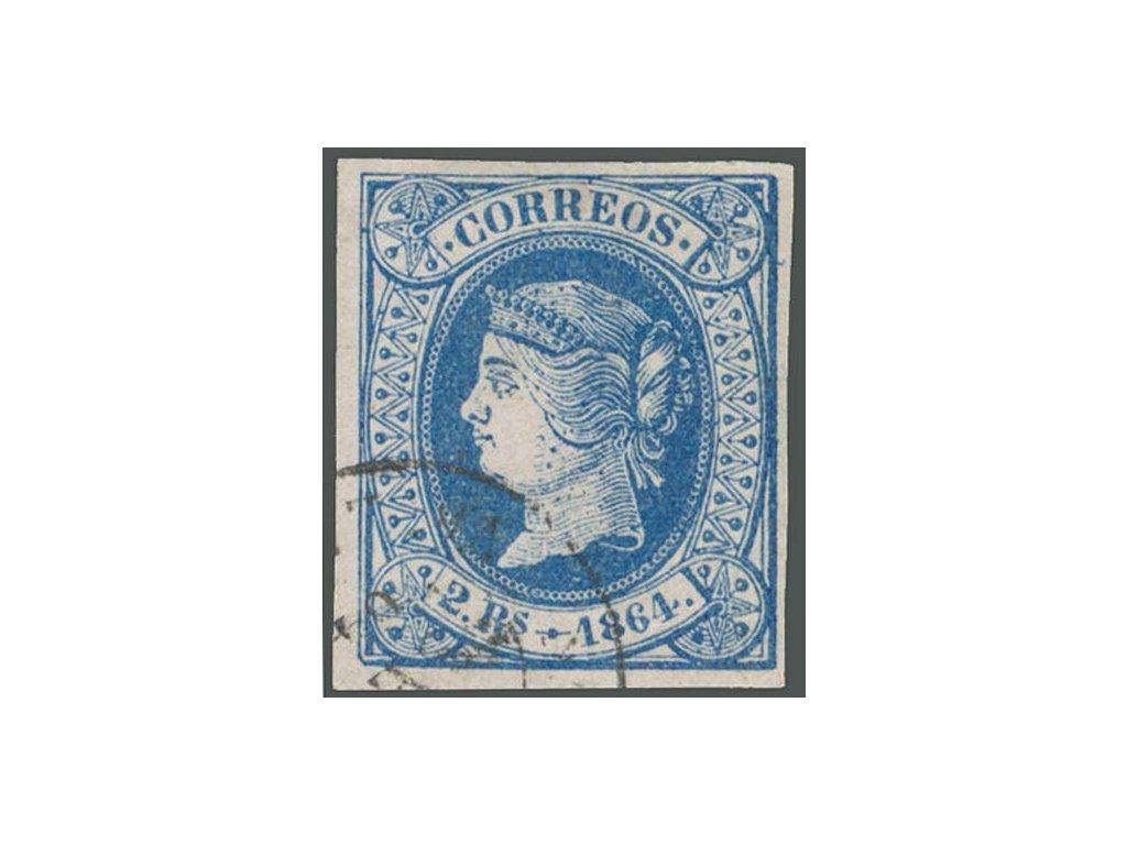 1864, 2 Cs Isabella, MiNr.55, razítkované
