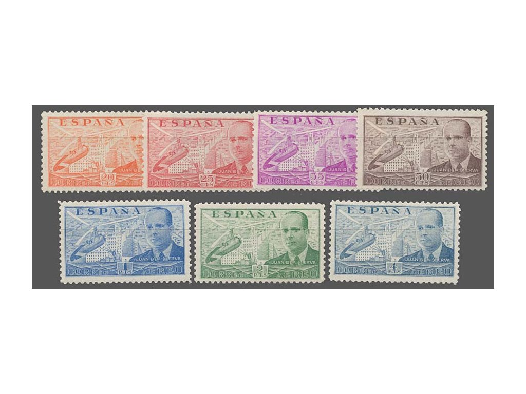 1940, 20C-10Pta letecká série, MiNr.886-93, */**