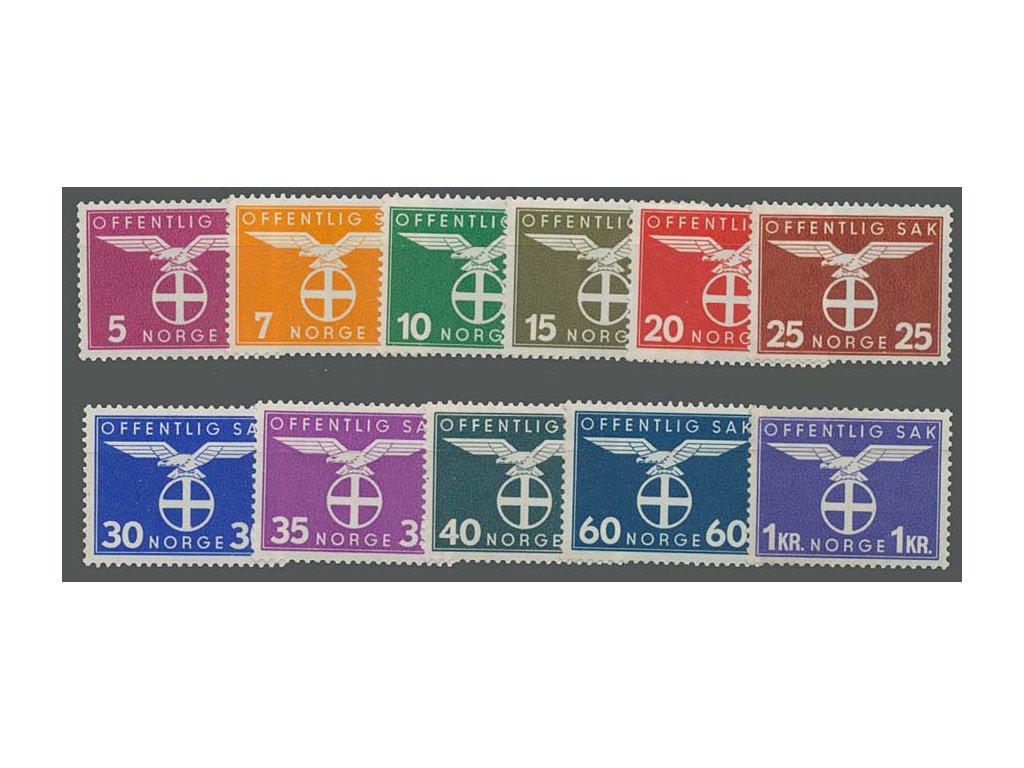 1942, 5Q-1Kr služební série, MiNr.44-54, **