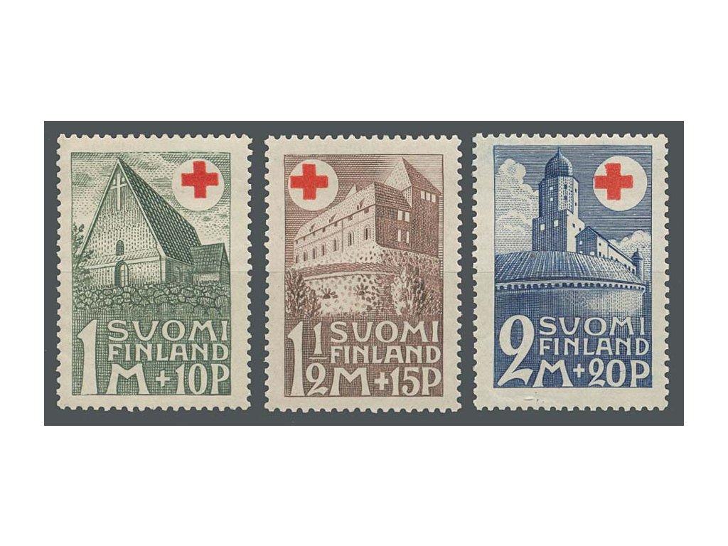 1931, 1-2M série Červený kříž, MiNr.164-66, **