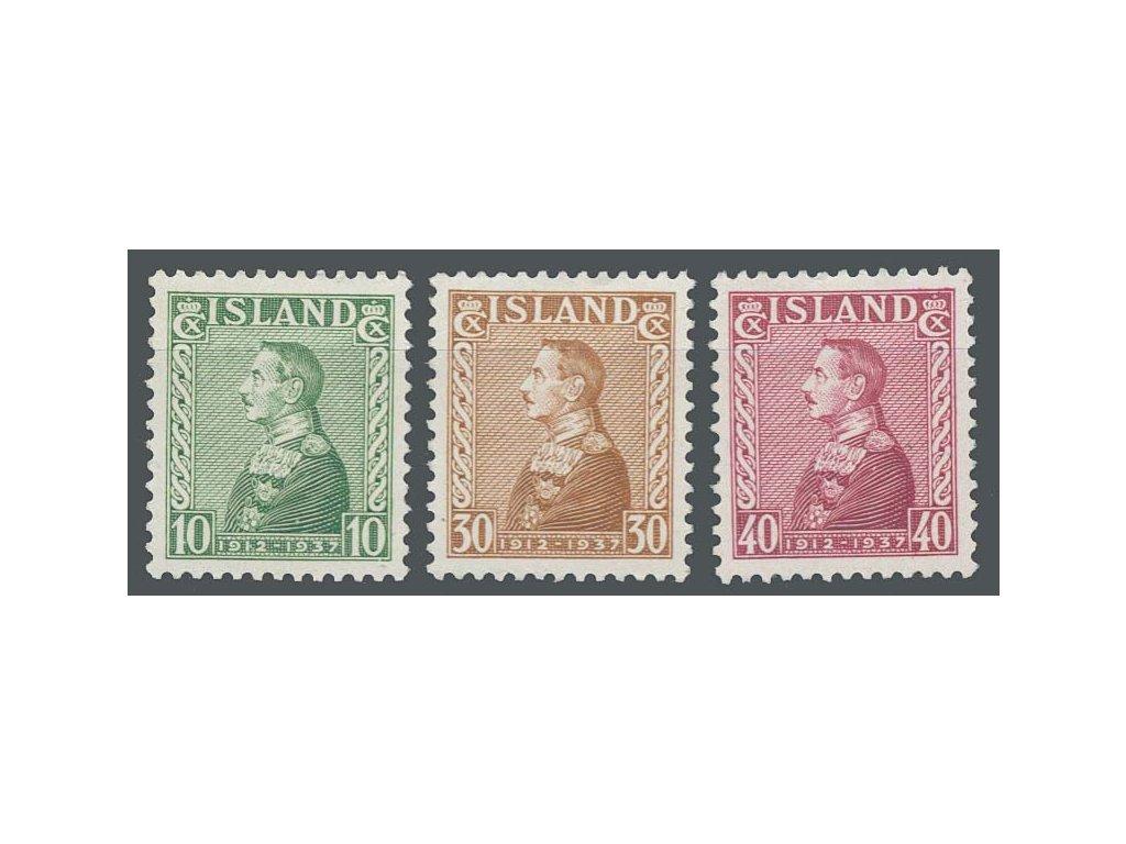 1937, 10-40A série Christians, MiNr.187-89, * po nálepce