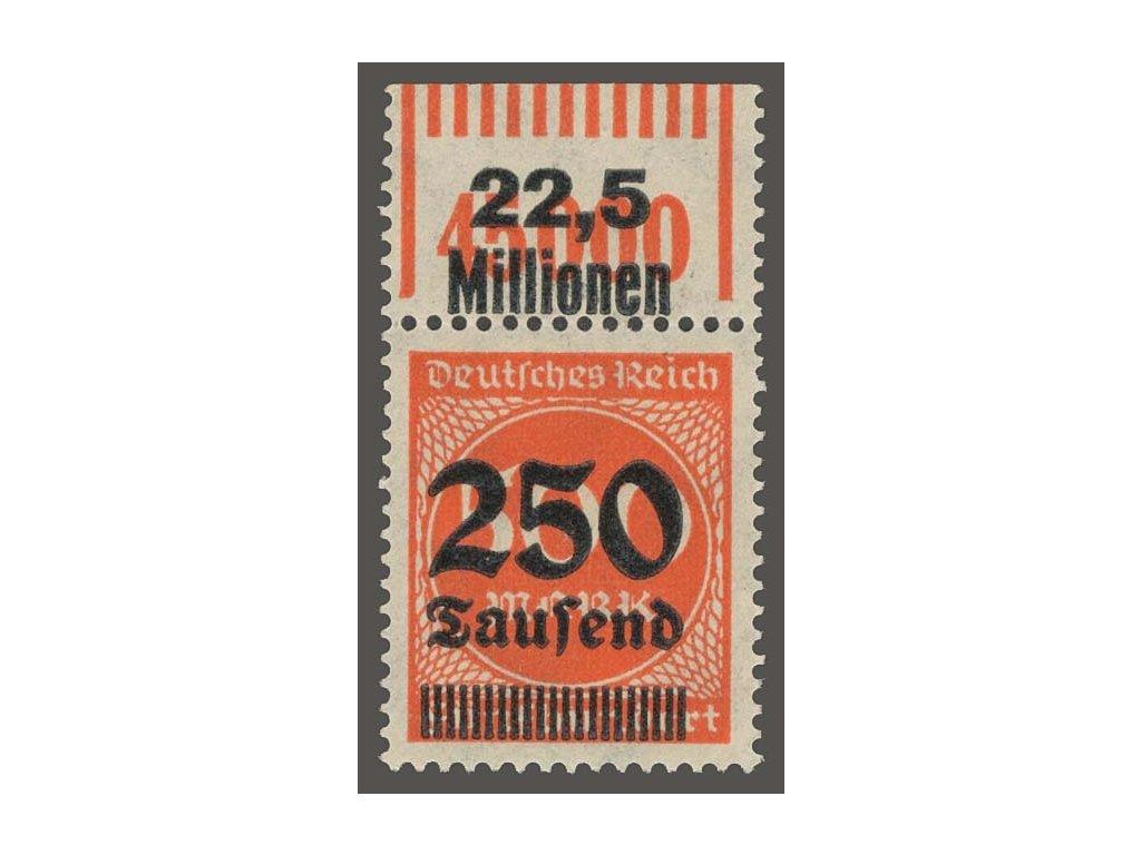 1923, 250Tsd/500M oranžová, přetisk Lipsko, * po nálepce