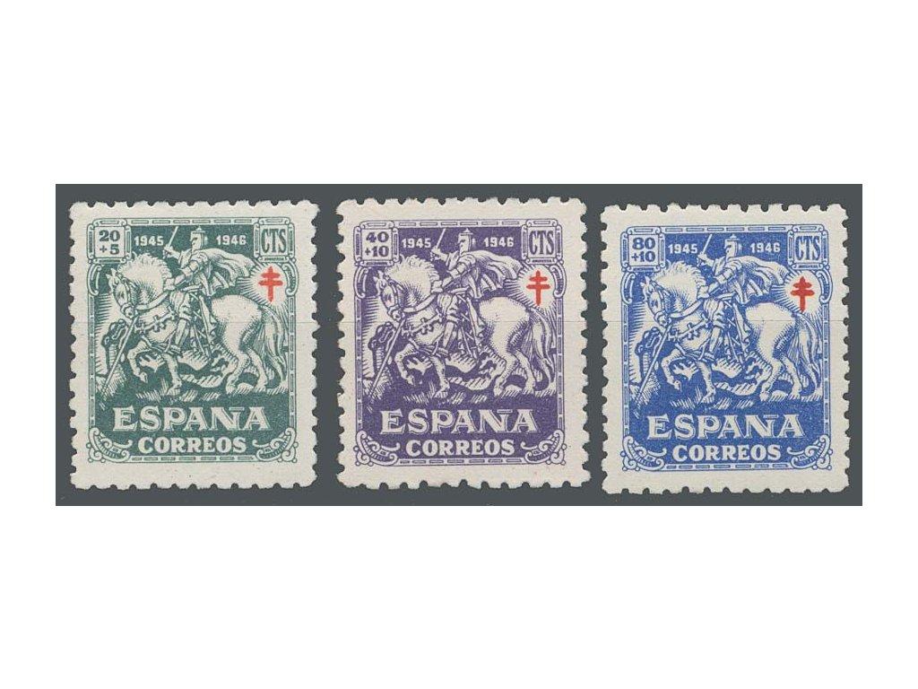 1945, 20-80C série Tuberkulóza, MiNr.931-33, **