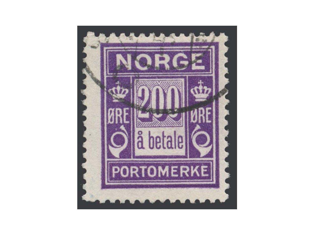 1921, 200 Q doplatní, MiNr.12, razítkované