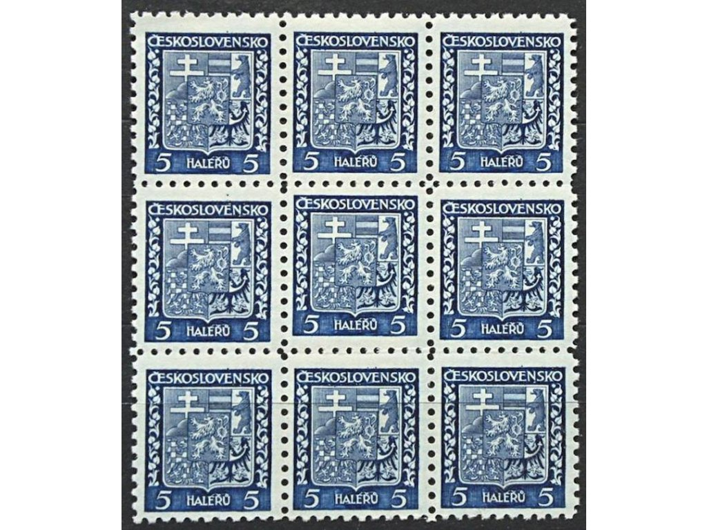 1929, 5h Znak, 9blok s posunutou moletou, **