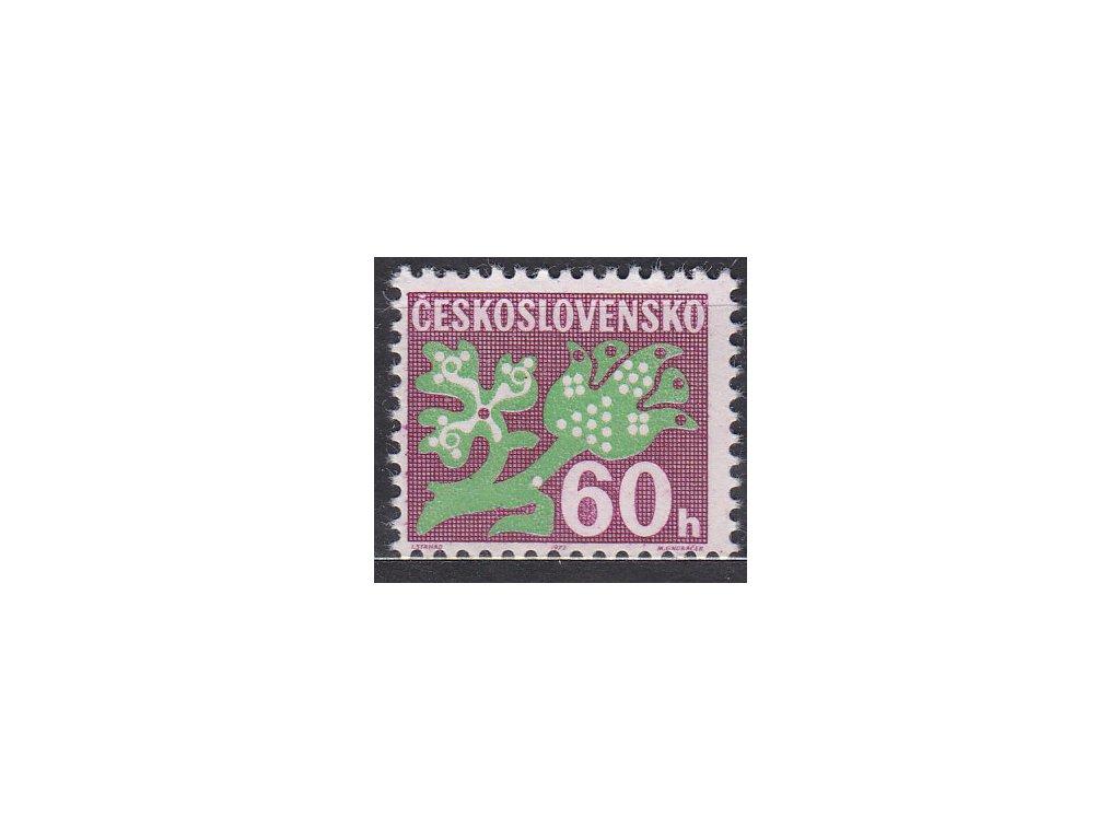 1971, 60h Doplatní, papír oz, Nr.D95xb, **