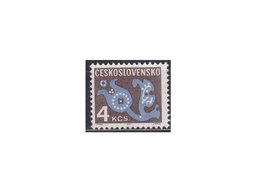 1971, 4Kčs Doplatní, papír oz, Nr.D101xb, **