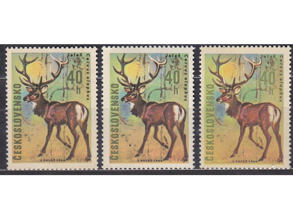1966, 40h Jelen, 3 ks - odstíny nápisu a hodnoty, Nr.1568, **