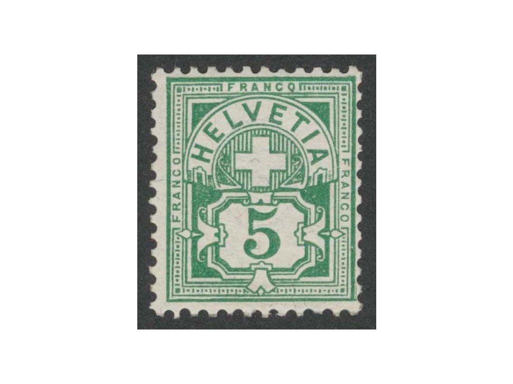 1882, 5 C Znak, MiNr.52, **