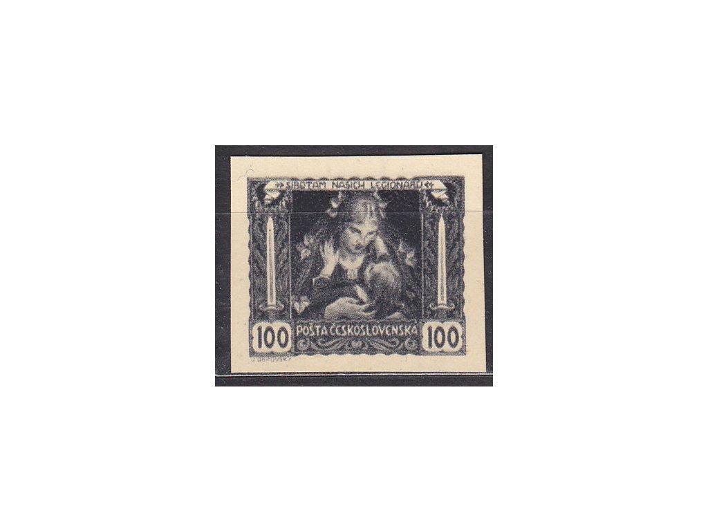 100h černá, nezoubkovaná, silný kartonový papír, zk.Vrba, Nr.31, bez lepu