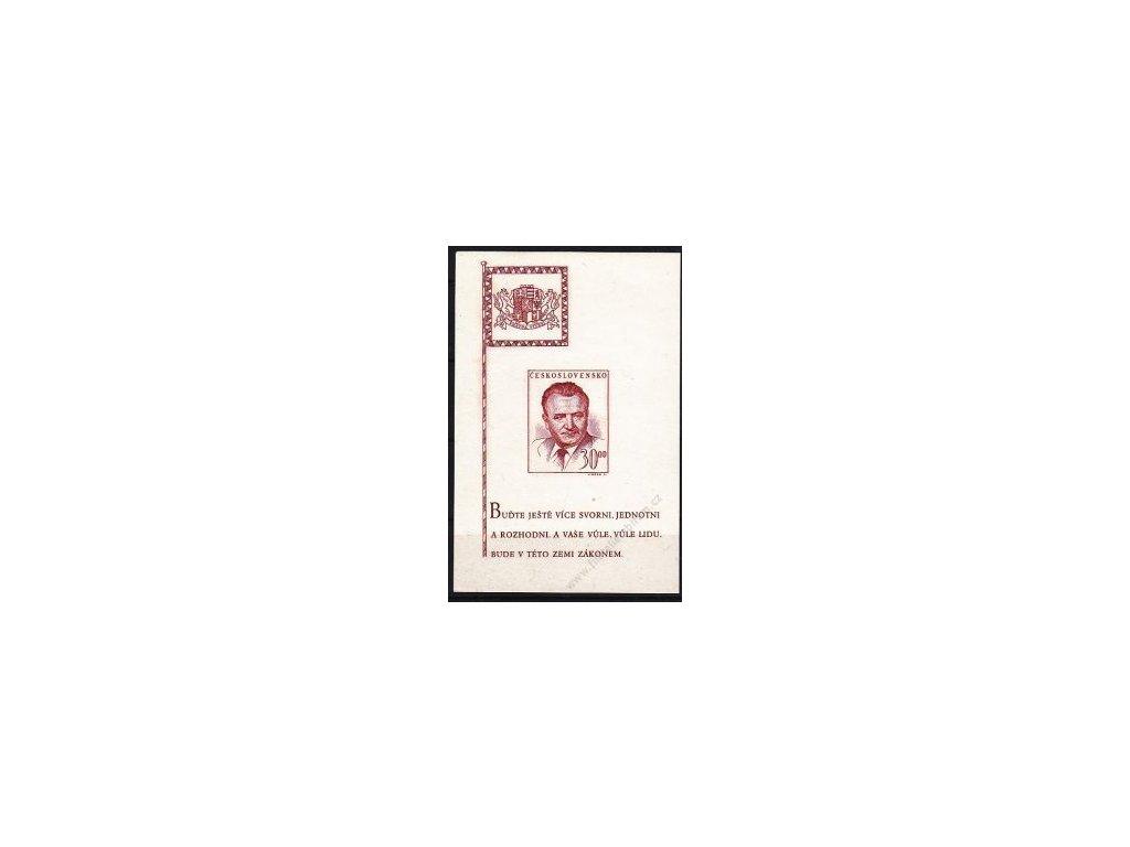 Aršík 3Kčs Gottwald, IV.typ, Nr.A492, **