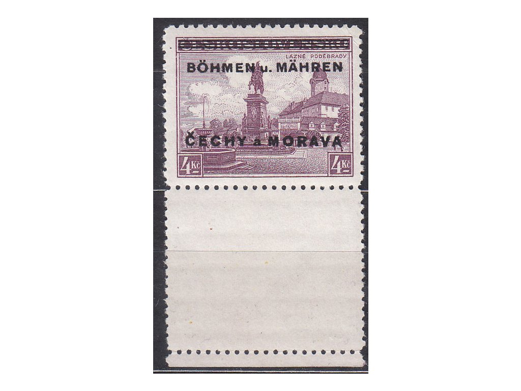 4Kč Poděbrady, dolní kupon, Nr.17K, **