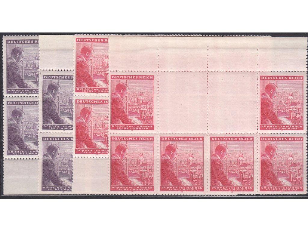 1943, 60h-1.20K Hitler, H+D vodorovné podkovy, Nr.106-7, **