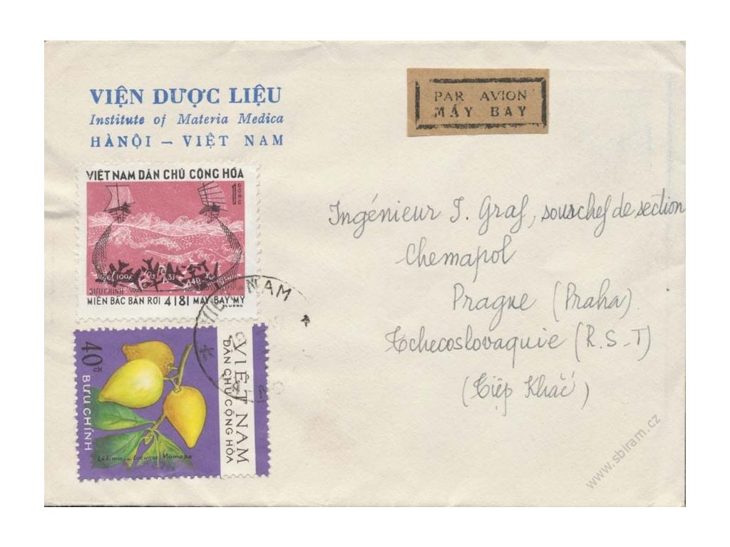 Vietnam, 1978, DR Hanoi, let. dopis zasl. do ČSSR