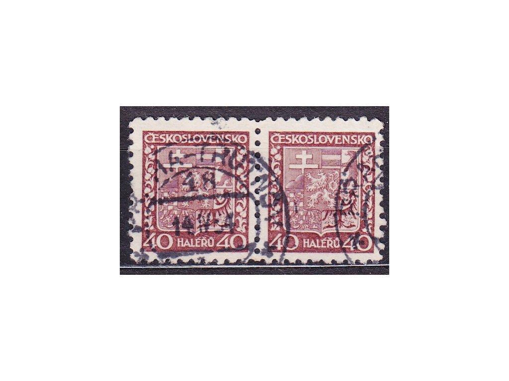 1929, 40h Znak, pergamenový papír, 2páska, razítkované
