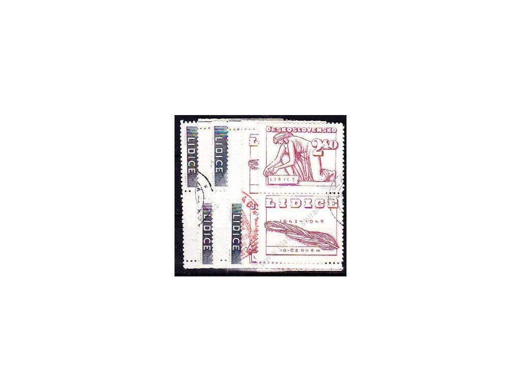 1.20-2.40Kčs Lidice, kupony na obě strany, Nr.453-5, razítkované, ilustrační foto