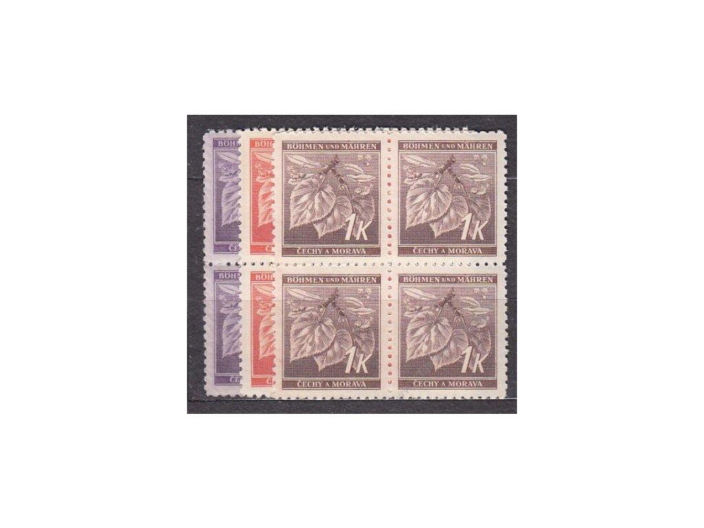 1941, 60h-1K Ratolest II, série, 4bloky, Nr.54-6