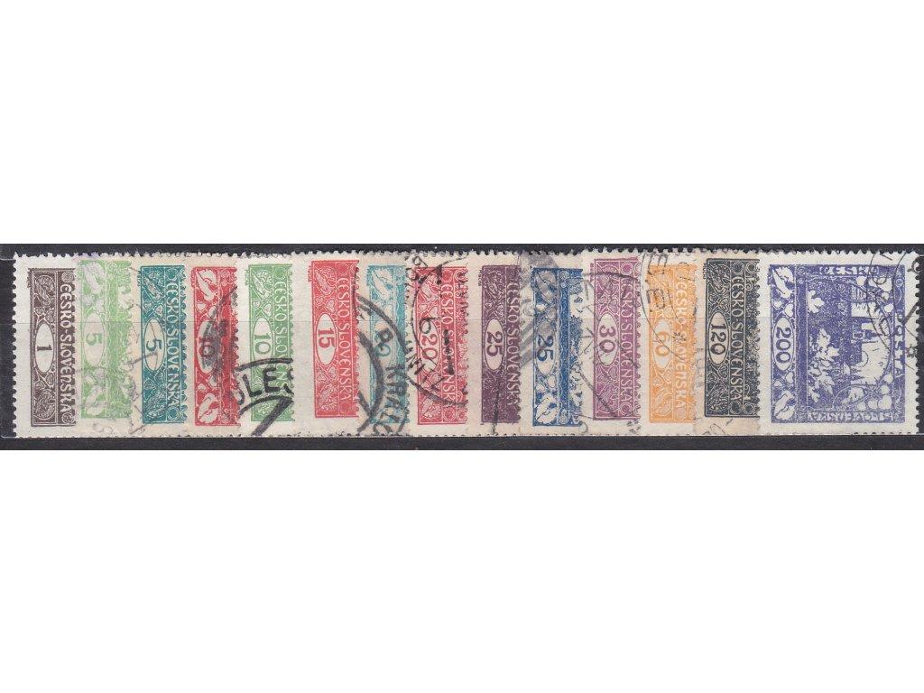 1-200h, základní série zoubkovaných známek, nejlevnější varianty, razítkované, ilustrační foto
