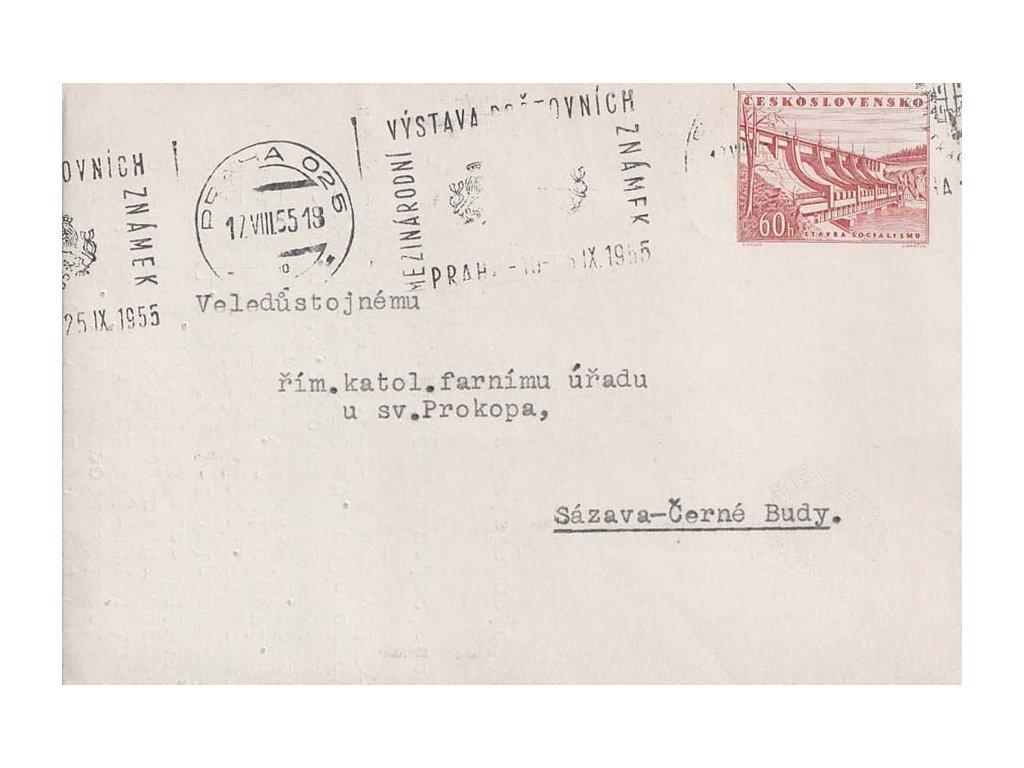 CZA 1 60h Přehrada Slapy, DR Praha 17.8.1955, prošlé