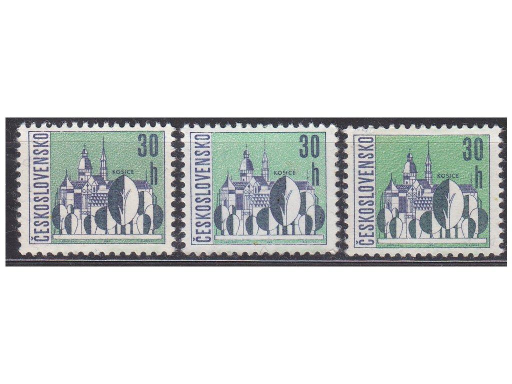 1965, 30h Košice, 3 ks - odstíny barev, Nr.1483a,b,c, **