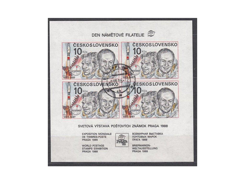 1987, 10Kčs Interkosmos, Den nám. fil., Nr.A2817B, razítkované, denní razítko