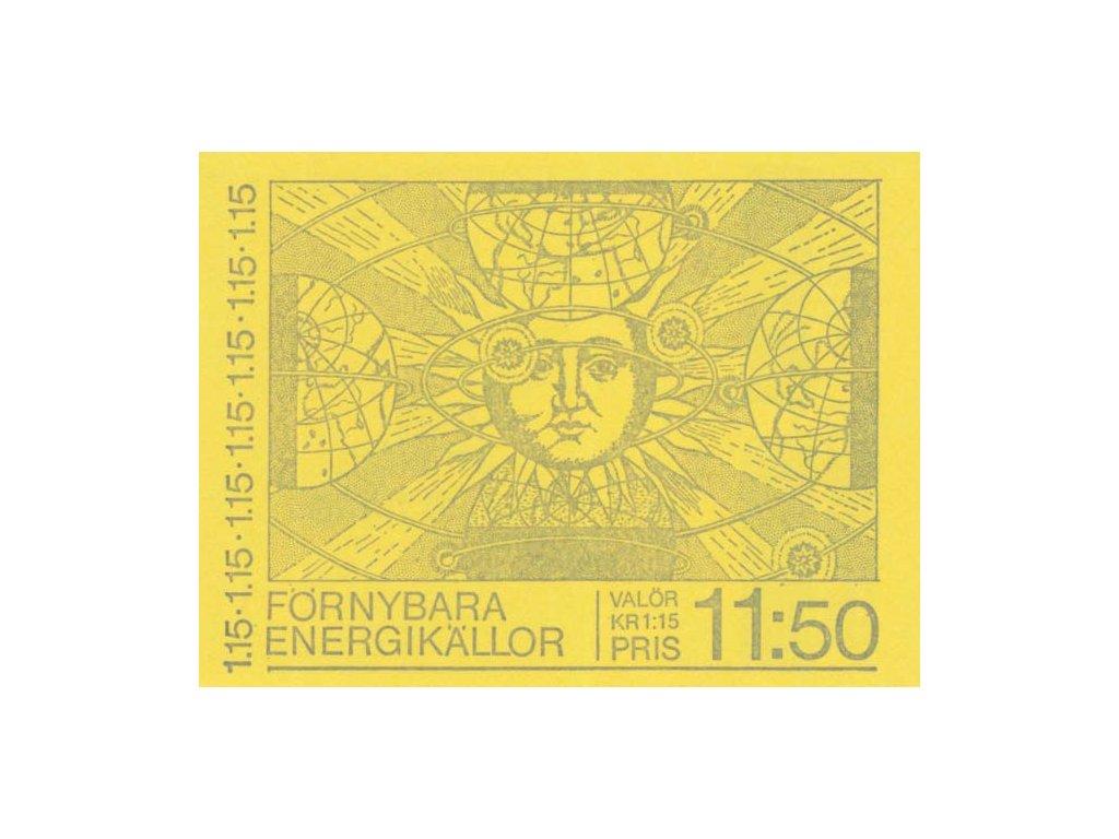 1980, známkový sešitek Energetika, MiNr.1096-1100, **
