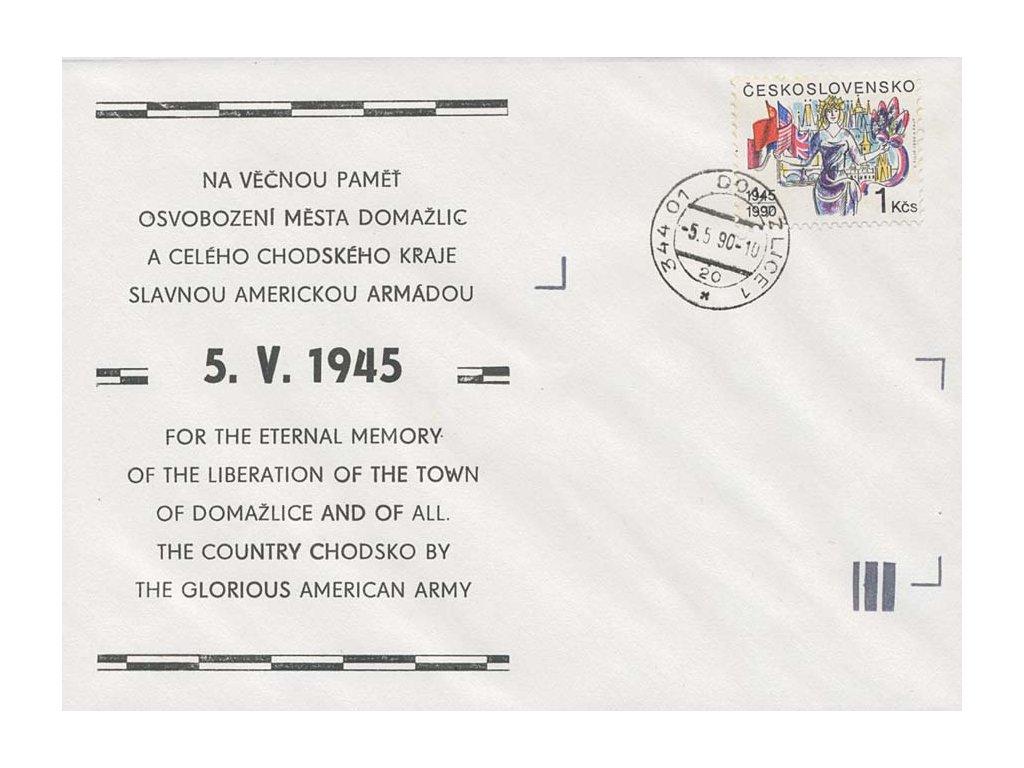 1990, FDC 2939 Výročí osvobození, neúřední FDC, neprošlé