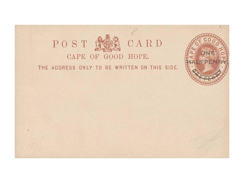 Cap of Good Hope, 1894, dopisnice Half Penny / One penny, neprošlé