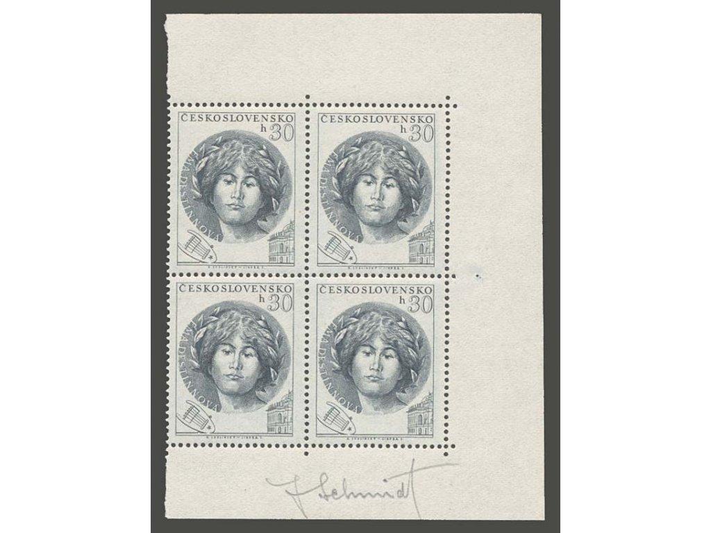 Schmidt, podpis na známkách z roku 1953, **