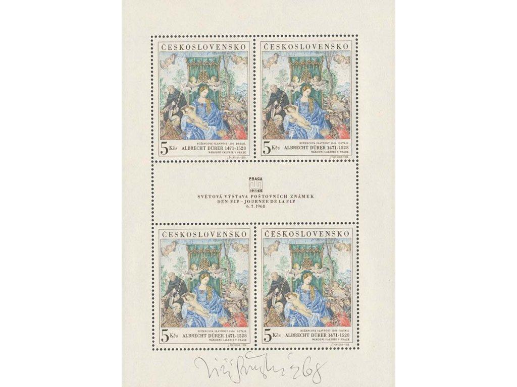 Švengsbír, podpis na PL z roku 1968, **