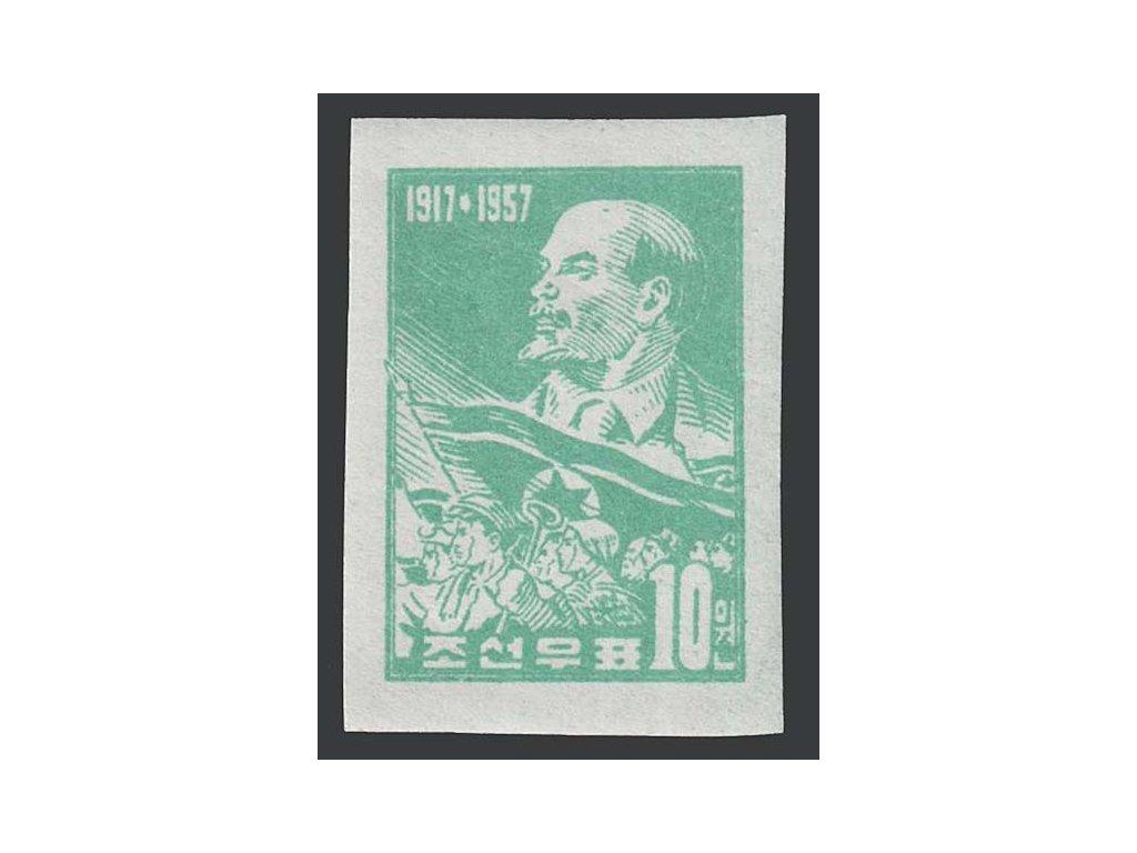 Korea-Nord, 1957, 10 Lenin, MiNr.127B, **