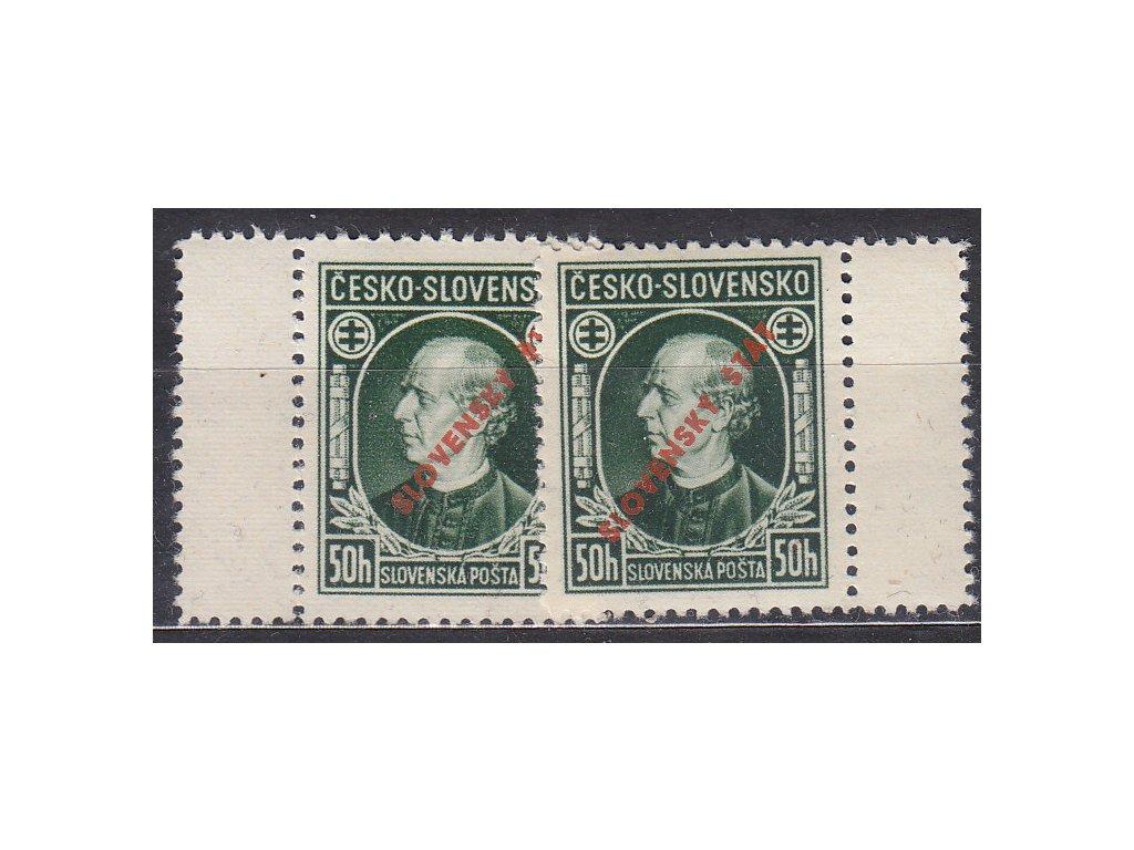 1939, 50h Hlinka, L+P kupon, Nr.23A, **