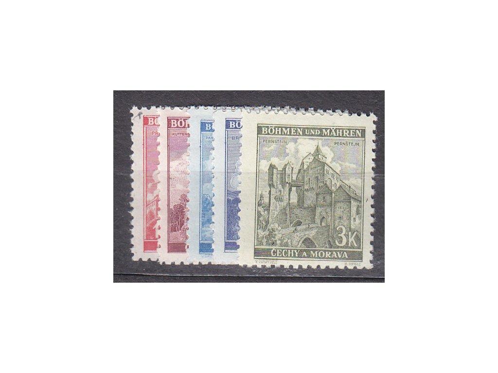 1941, 1.20-3K Krajinky III, série, Nr.57-61, **