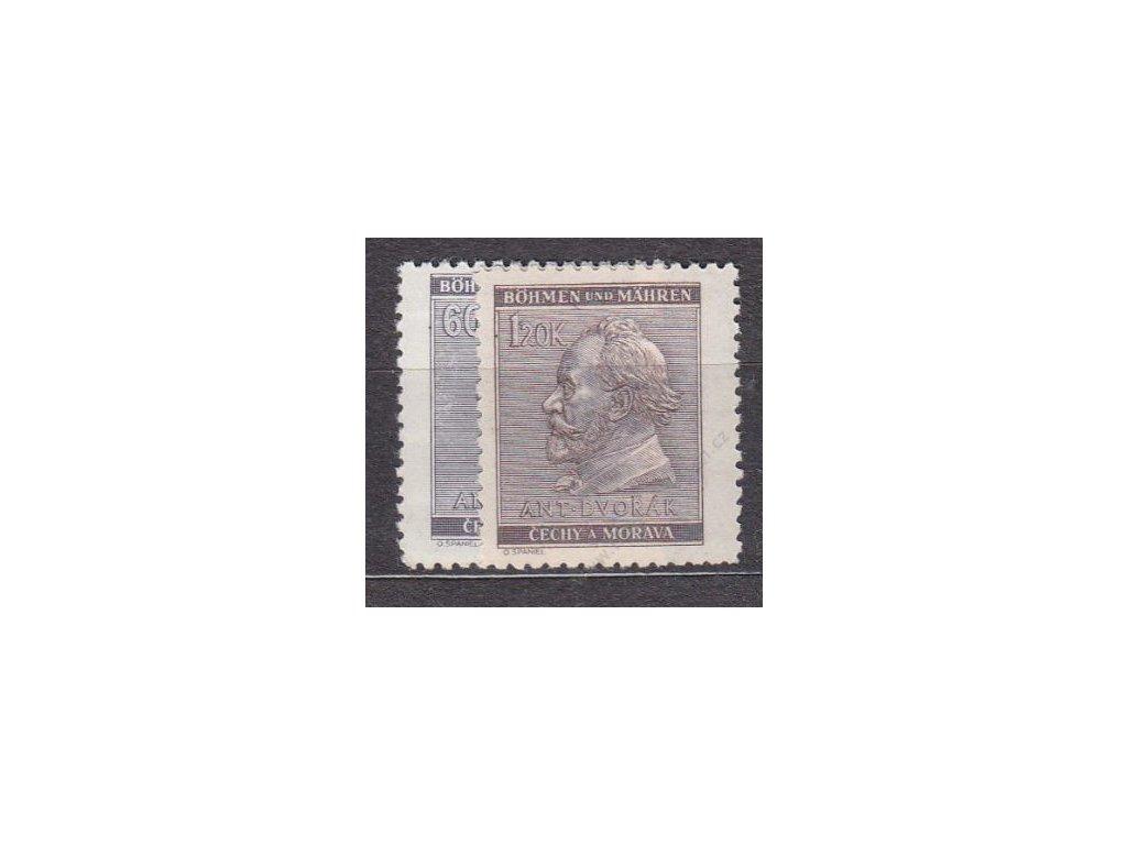 1941, 60h-1,20K Dvořák, série, Nr.62-3, **