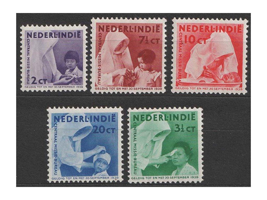 Indie, 1938, 2-20C série Misionářská pomoc, MiNr.255-59, *