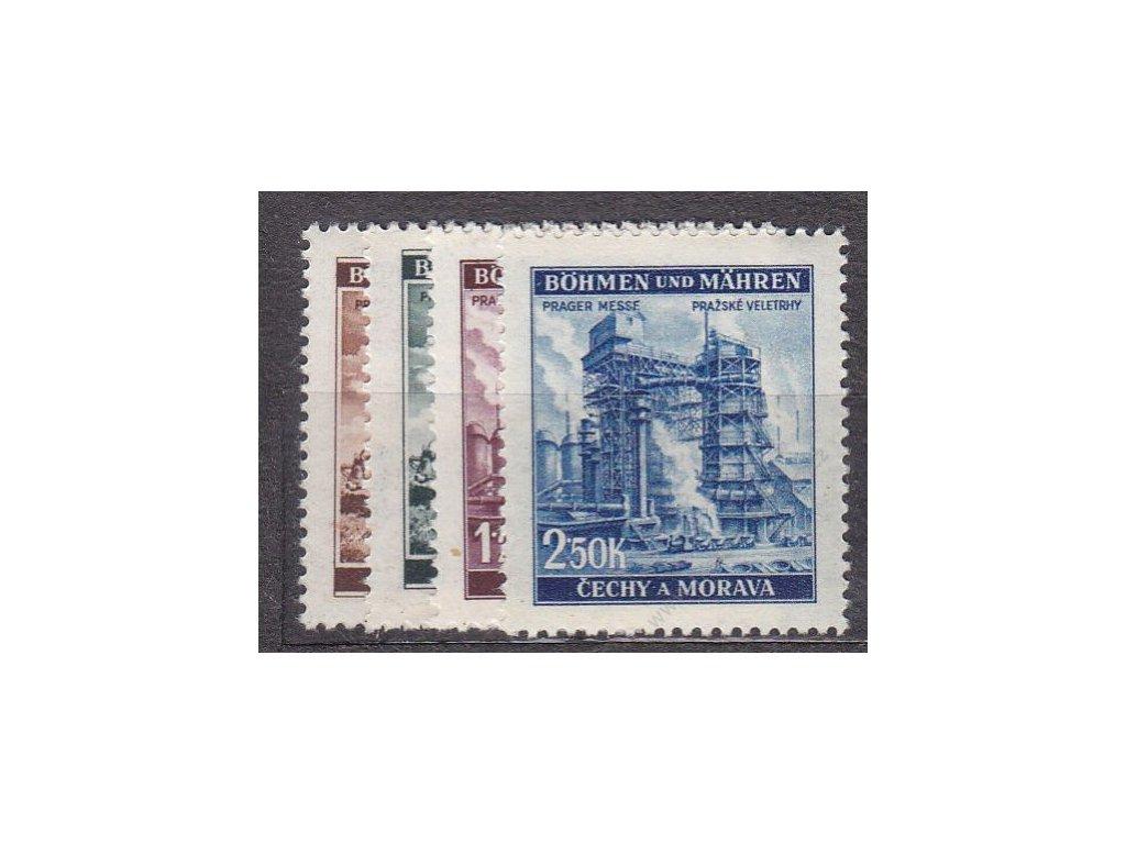 1941, 30h-2.50K Veletrhy, série, Nr.64-7, **