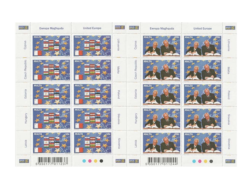 2004, PL - Deset nových členů EU, Malta, kat. 2800Kč, **