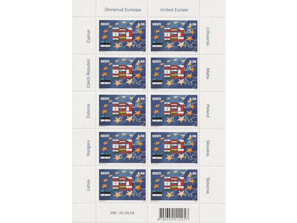 2004, PL - Deset nových členů EU, Estonsko, kat. 700Kč, **