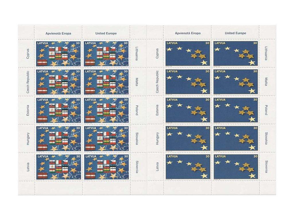 2004, PL - Deset nových členů EU, Lotyšsko, kat. 1100Kč, **