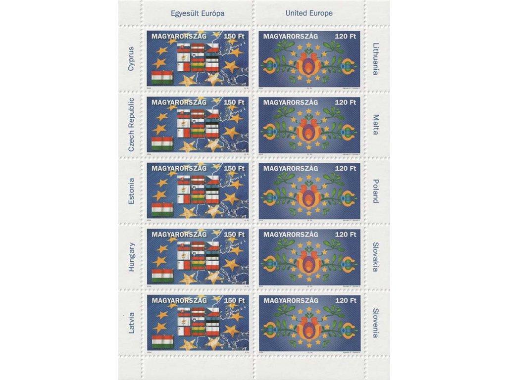 2004, PL - Deset nových členů EU, Maďarsko, kat. 1500Kč, **