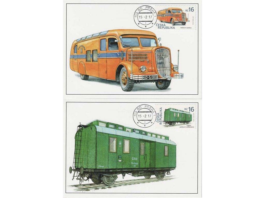 CM 123-124 Historické dopravní prostředky Autobus a vagon