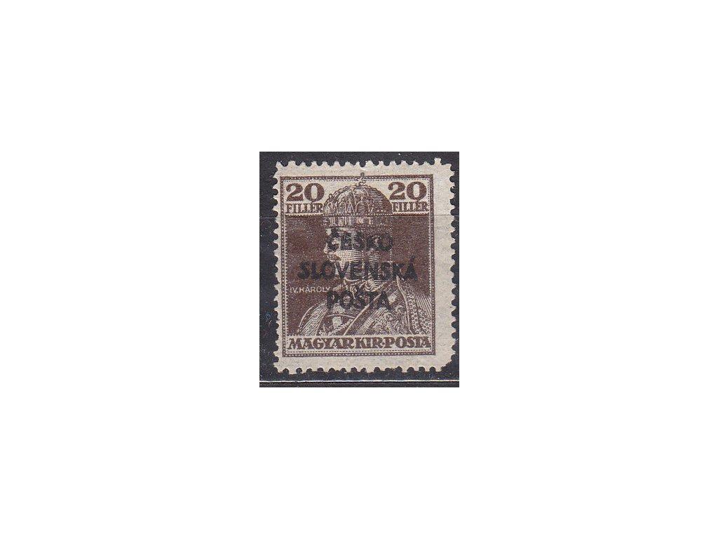 Šrobár, 20f Karel, zk.Gilbert, Nr.RV148, * po nálepce, vada - chybí roh