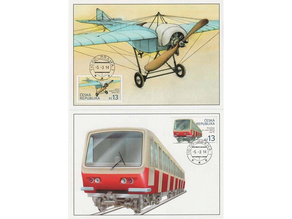 CM 97-98 Historické dopravní prostředky Letoun a vůz Metra