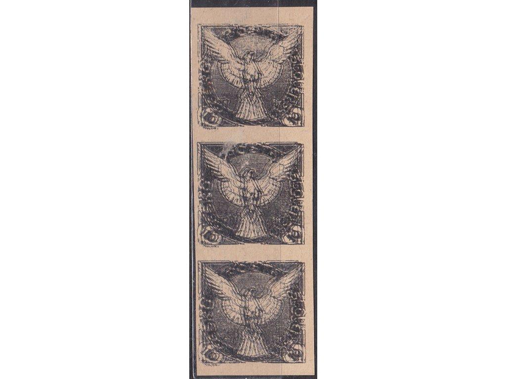 10h černá, 3páska ZT - násobný tisk, Nr.NV4, bez lepu