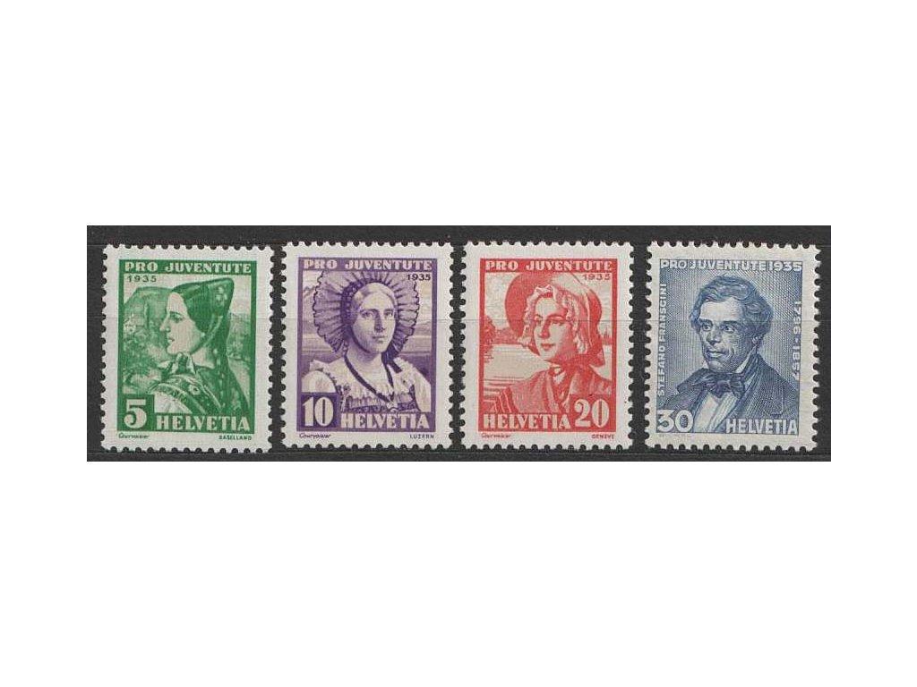 1935, 5-30C série Pro Juventute, MiNr.287-90, **