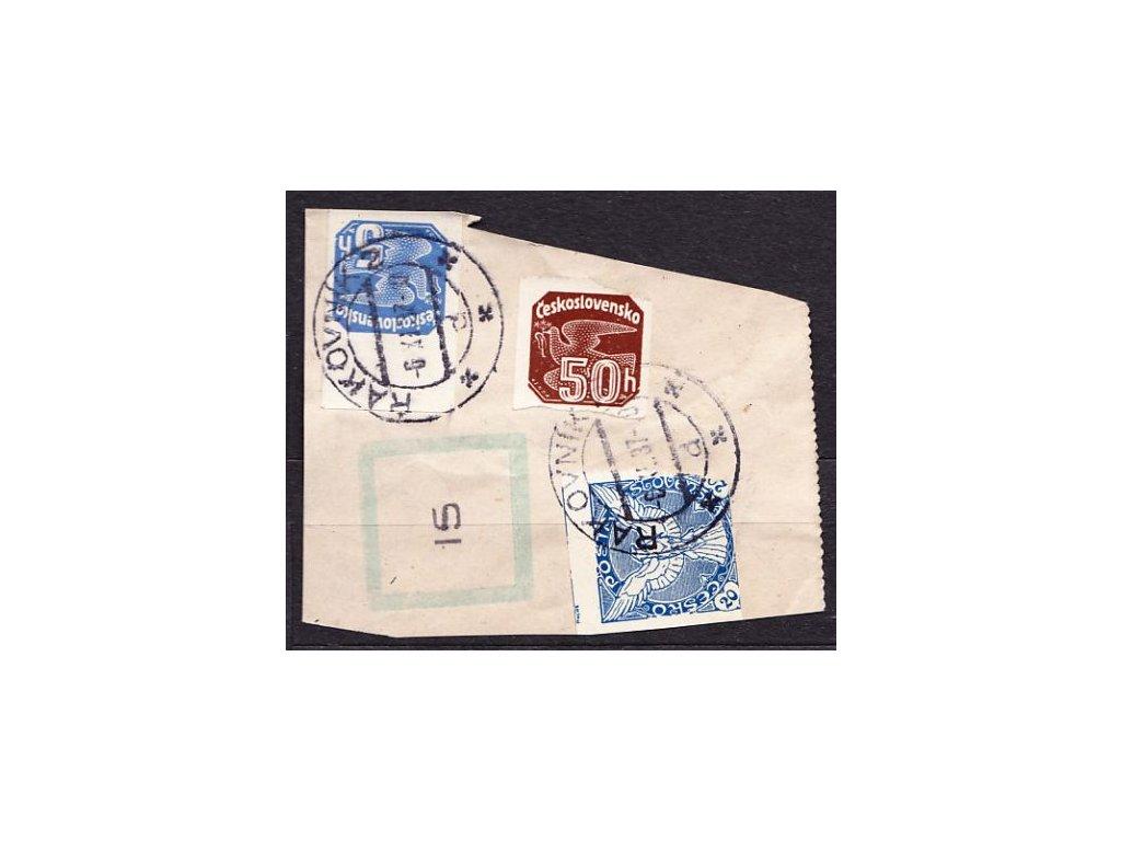 Výstřižek vyfr. smíš. frank. vyd. 1918 a 1937