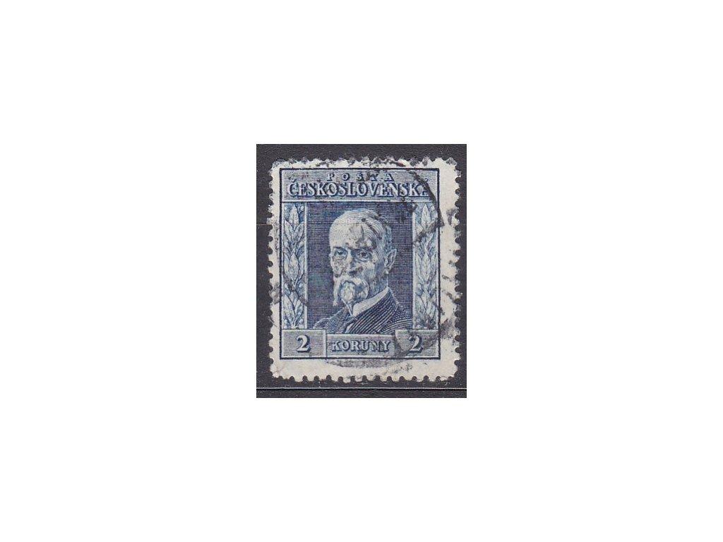 2Kč modrá, I.typ, svislá pr.3, Nr.191, razítkované